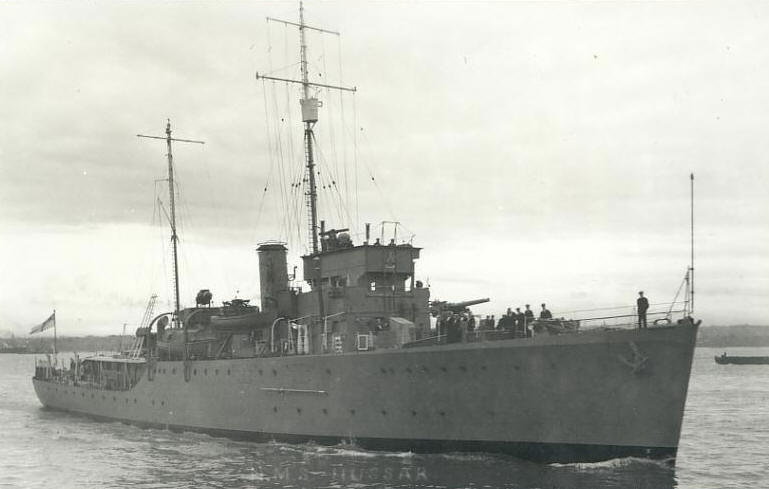 HMS Hussar - Halcyon Class Minesweeper